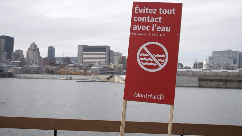 Montreal starts massive sewage dump into river