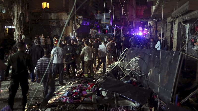 Twin blasts kill over 30 in Beirut