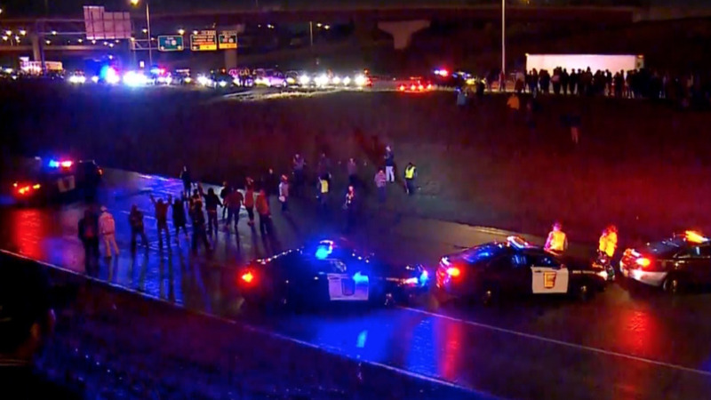 Protests block highway after police shooting