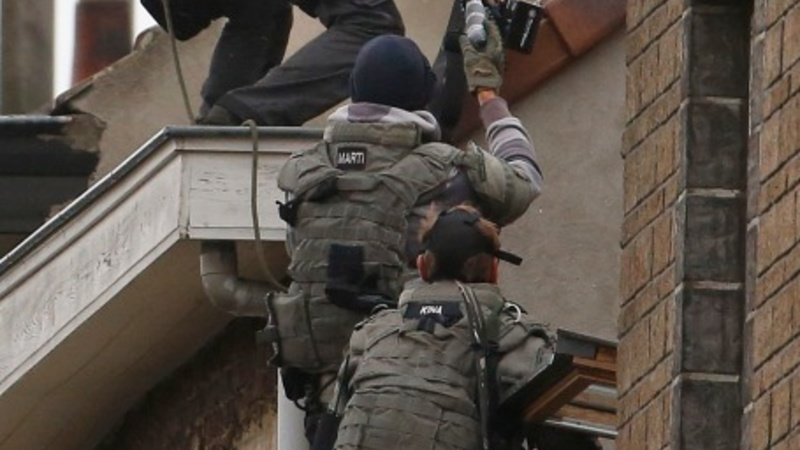 French police make 128 overnight raids