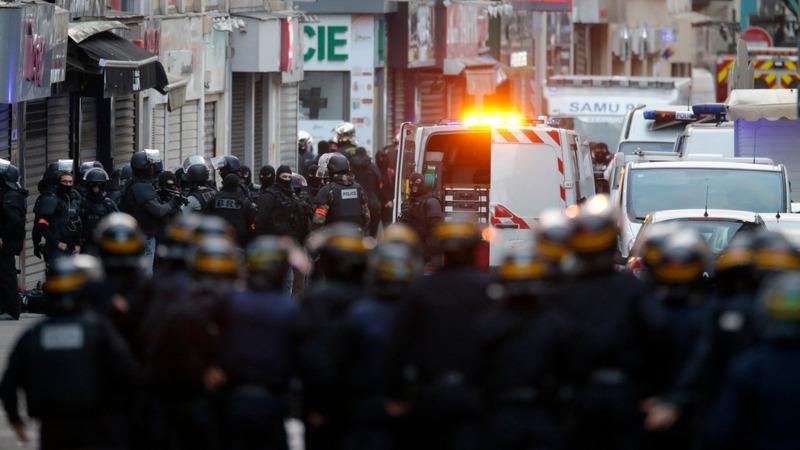 Paris police find, battle attackers