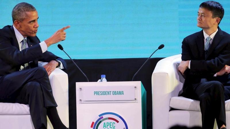 Obama ribs Alibaba's Jack Ma on panel