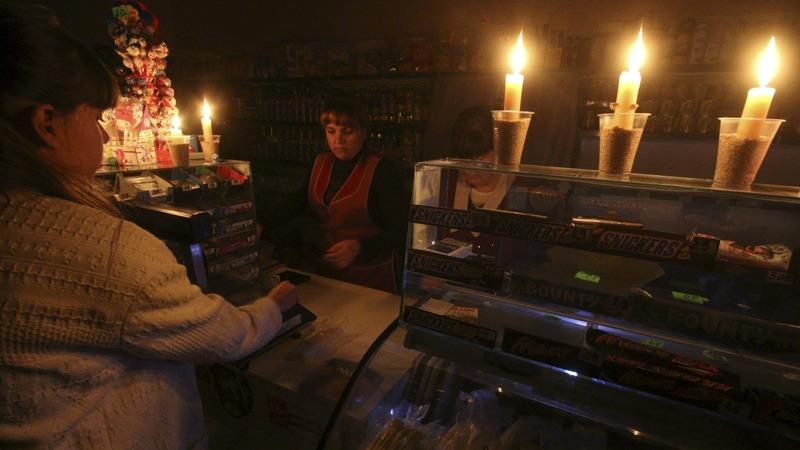 Crimea hit by power blackout