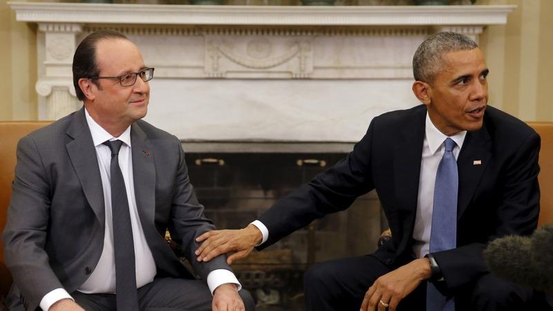 Obama, Hollande vow ramp up vs. ISIS