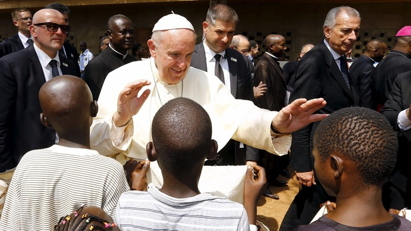 Pope preaches harmony in African war zone
