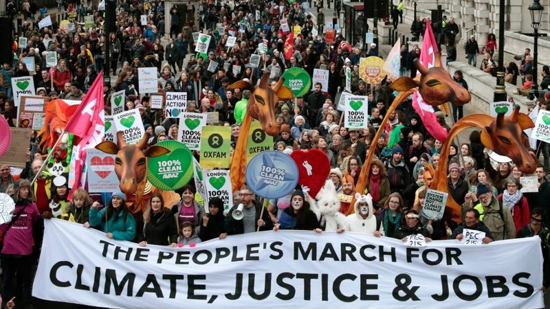 Global march ahead of climate summit