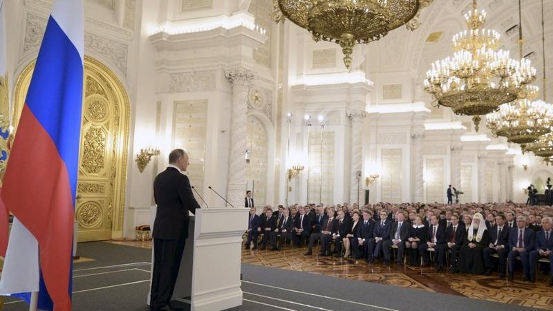 Putin slams Turkey at annual address