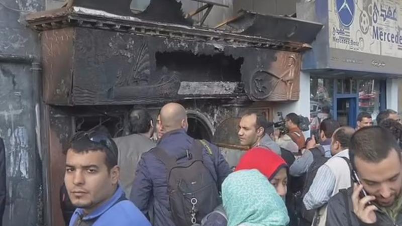 Molotov explosive kills 16 in Cairo