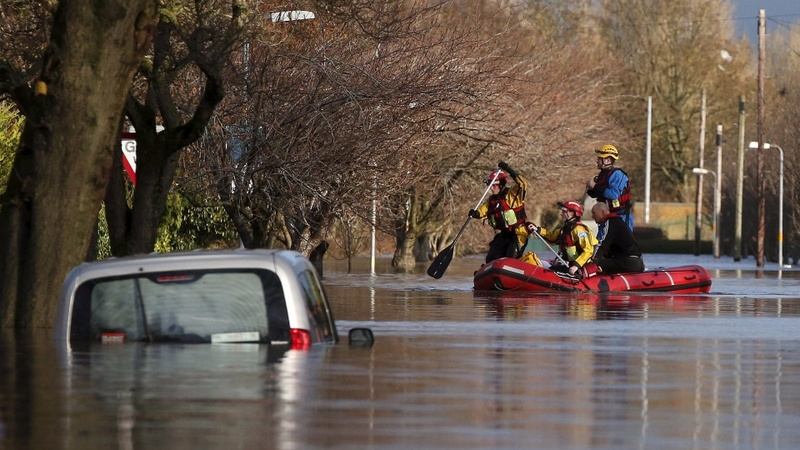 One dead as floods hit northern England