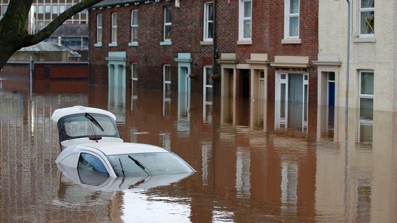 Lights out in flood-stricken north-England