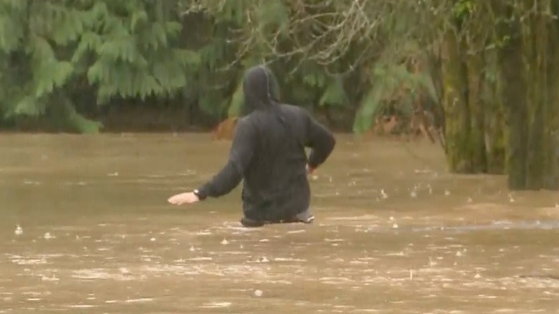 Record rainfall in Portland, OR