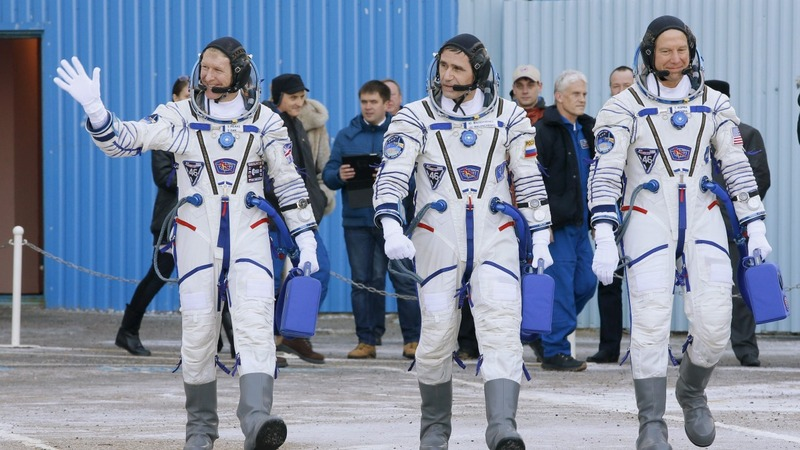 First UK astronaut blasts off for 6 months
