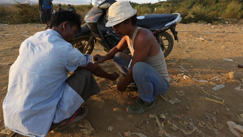 Myanmar's jade miners, hooked on heroin