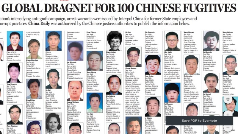 The lives of some of China's most wanted