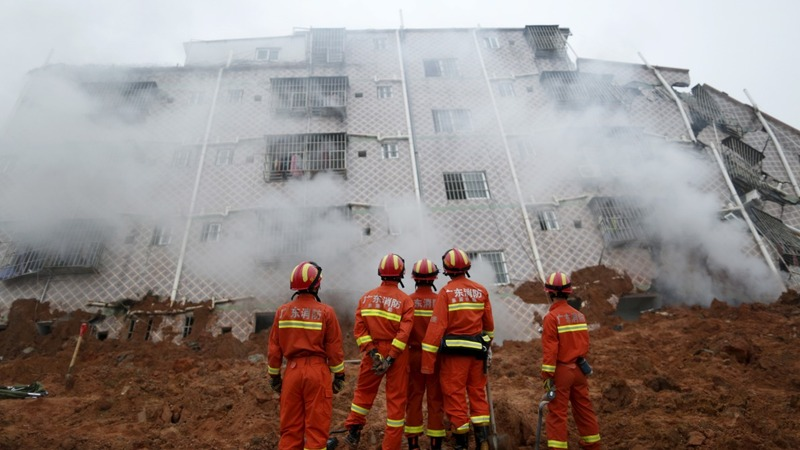 Landslide rocks Chinese city, dozens missing
