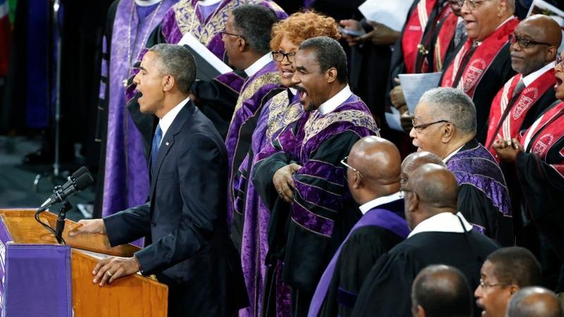2015: Obama's 'Amazing Grace'