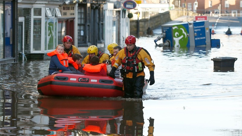 Flooding wreaks havoc across north England