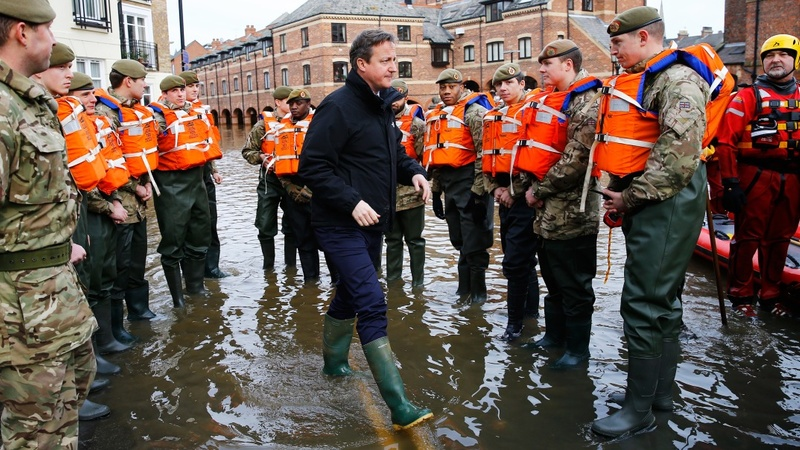 UK floods: Cameron visits ravaged homes