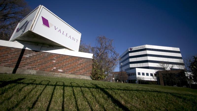Valeant shares drop on CEO's illness