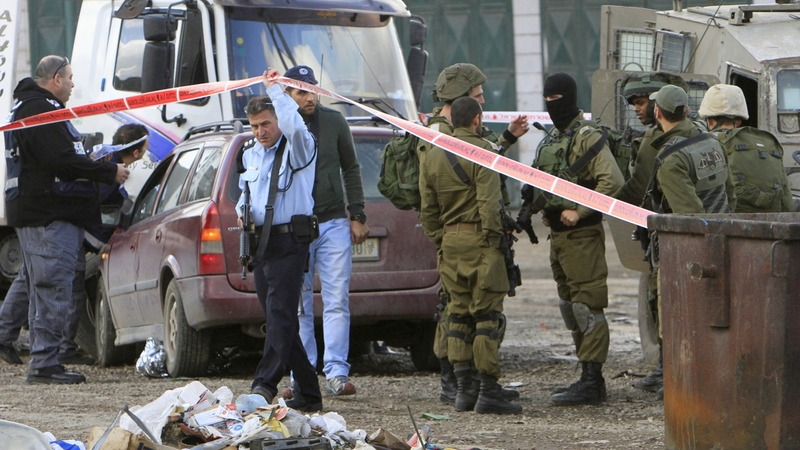 Palestinian killed after ramming into Israelis