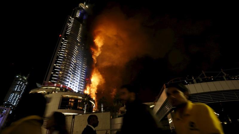 Fire breaks out near Dubai NYE celebration