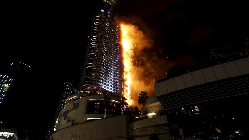 Dubai investigates massive NYE hotel fire