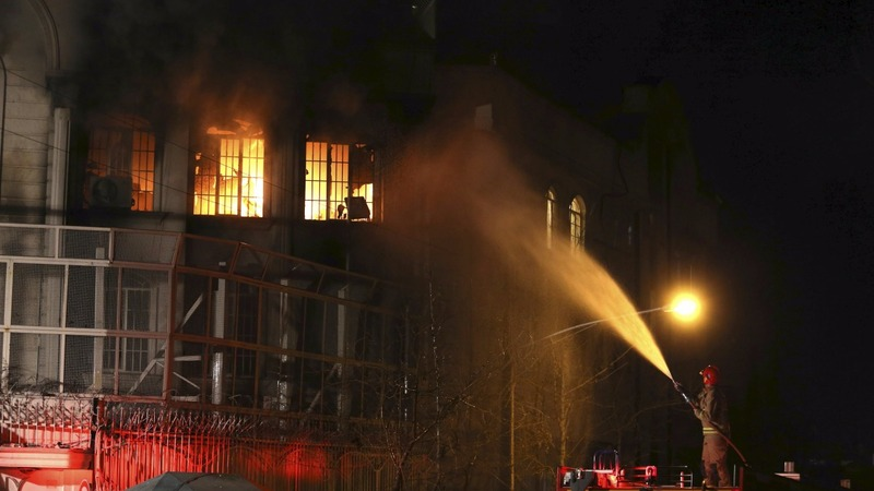 Protesters set fire to Saudi embassy in Iran