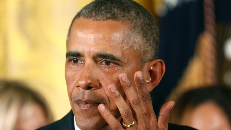 VERBATIM:  Obama's tears of anger over gun deaths