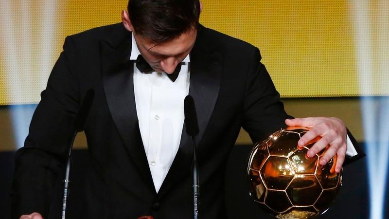 Messi gets his fifth Ballon d'Or award