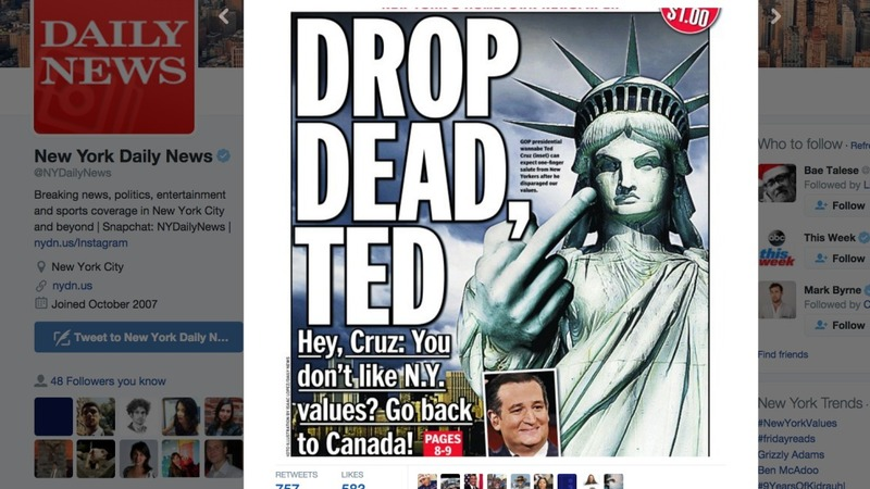 New Yorkers fight back against Cruz insult