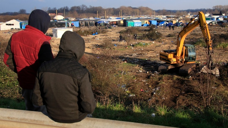 Migrants break into Calais port after protest
