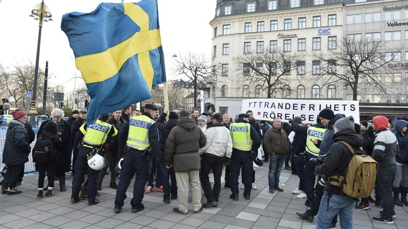 Anti-immigrant rally held in Swedish capital