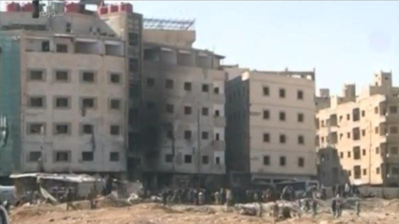 Blasts in Damascus kill at least 60