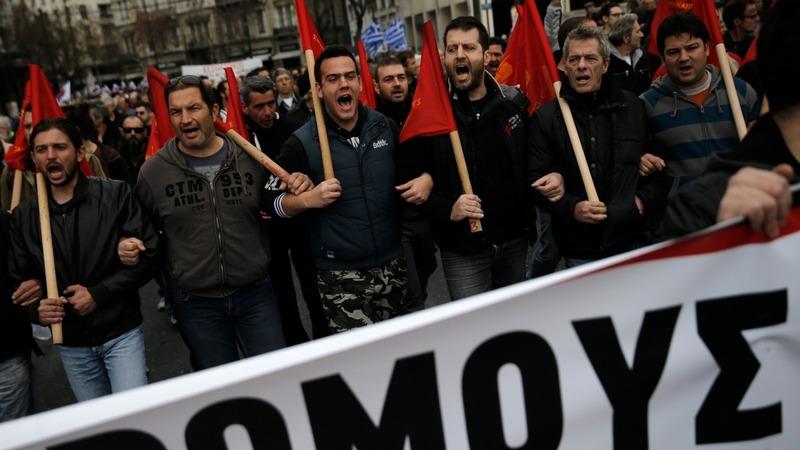 Greece on strike over pension plans