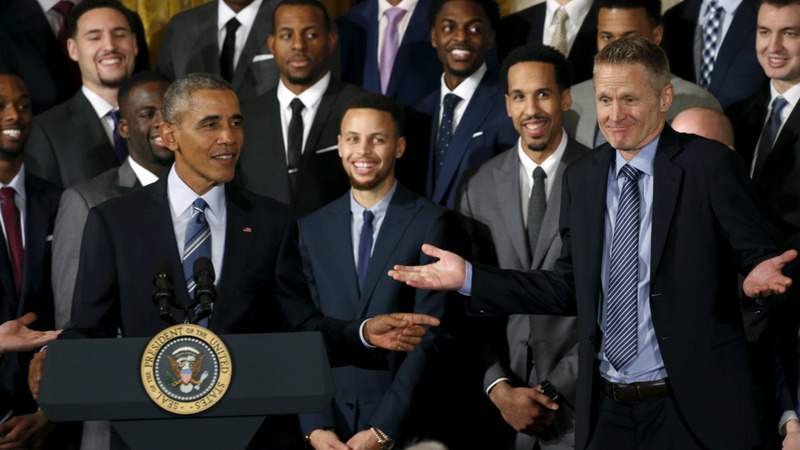 VERBATIM: NBA Champion Warriors honored at White House