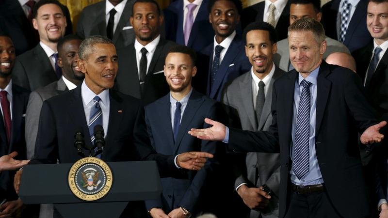 VERBATIM: NBA Champion Warriors honored at White House