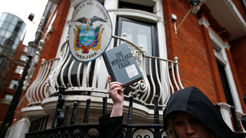 To leave or not to leave: Assange's question