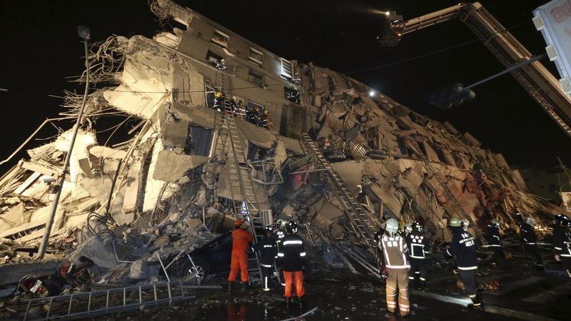 Deadly Taiwan quake topples high-rise
