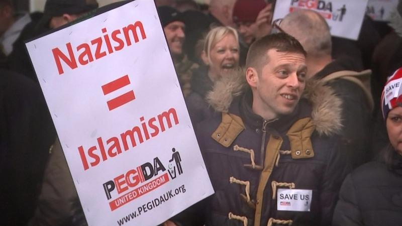VERBATIM: Anti-Islam group faces counter-demo