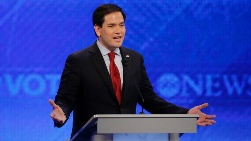 Rubio cracks under pressure from Christie