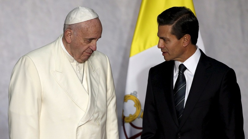 Pope calls on Mexico to fight corruption