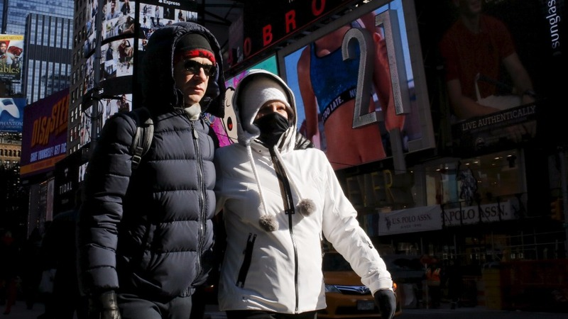 Cold weather blows through Northeast