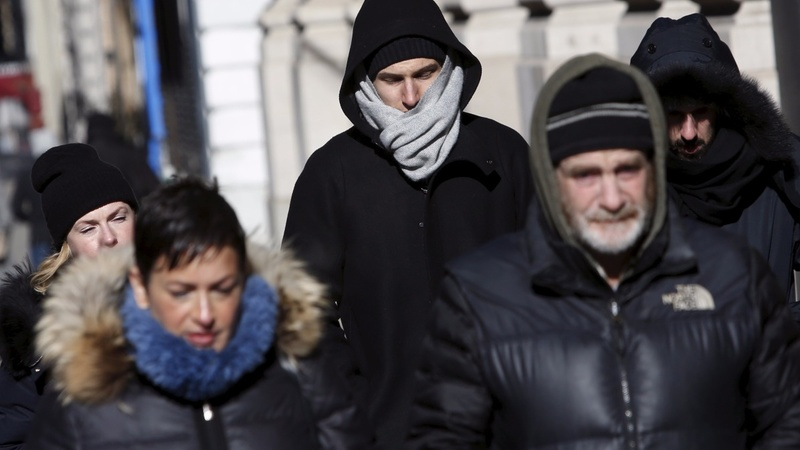 Record cold temperatures strike East Coast