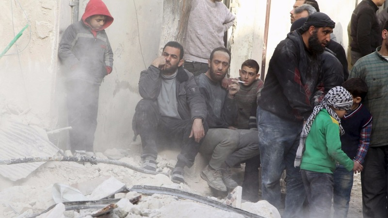 Hospitals and school hit in Syrian border town