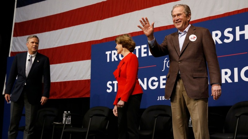 George W. Bush hits campaign trail for brother