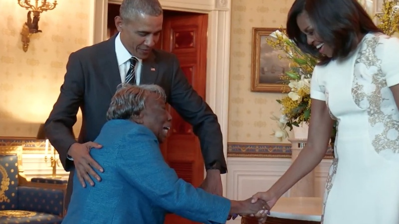 VERBATIM: 'A black president, yay!'