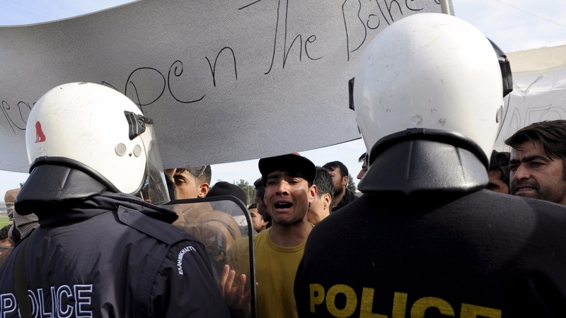 Greece neighbour traps migrants at border
