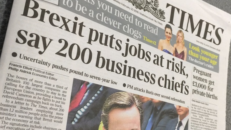 British big business says no to Brexit