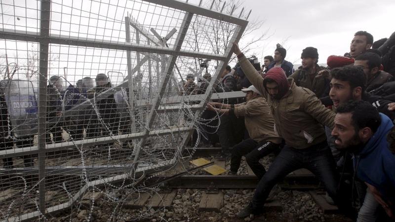 Refugee bottleneck boils over at border