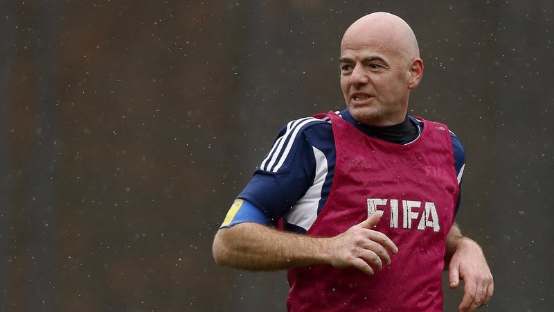 New FIFA boss starts work with a match